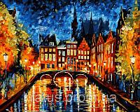 """VP 071 """"Ночь в Амстердаме"""" Роспись по номерам на холсте 40х50см"""
