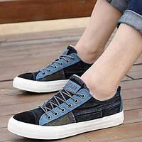 Черный / Синий / Розовый / Темно-синий - Мужская обувь - На каждый день - Полотно - Кроссовки 01874264