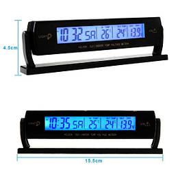 Автомобильные часы с термометром vst-7013V