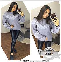 Женский модный теплый свитер с отделкой меха (4 цвета)
