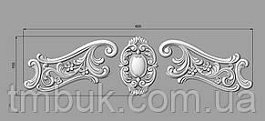 Горизонтальный декор 43 для мебели - 600х155 мм, фото 2