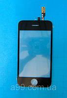 Сенсорная пленка + стекло iPhone 3GS черное