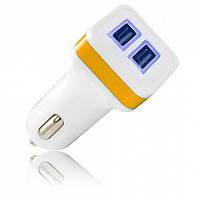 Зарядное устройство Gelius Gold Edition USB2 2.4A White/Orange (36832)