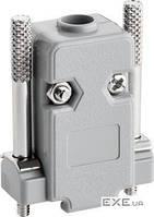 """Корпус роз""""єму FreeEnd->COM/ DB9,DSUB 9pin Plastic Long,Standart,сірий (75.01.2170-100)"""