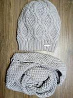 Комплект шапка+снуд из слонимской пряжи