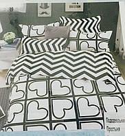 Стильное черно белое постельное белье