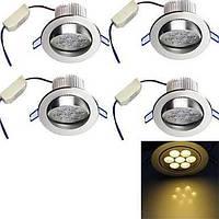 7W Встроенное освещение 7 Высокомощный LED 700 lm Тёплый белый Декоративная AC 100-240 V 4 шт. 04467527