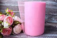 Фатин 15 см, 25 ярд/рулон, розового цвета