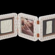 Рамка для фото Baby Art Double Print Frame медно-белая