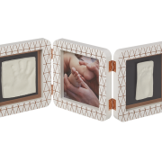 Рамка для фото Baby Art Double Print Frame медно-белая