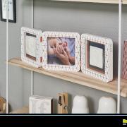 Рамка для фото Baby Art Double Print Frame медно-белая, фото 2