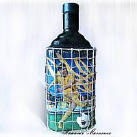 Сувенирная бутылка Сборная Украины по футболу  Подарок мужчине парню