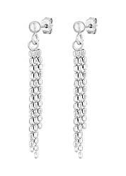 Серебряные пусеты с подвесками-цепочками 8816Р