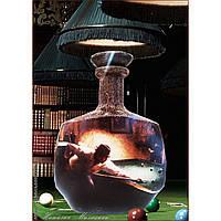 Подарок мужчине на 23 февраля  Сувенирная бутылка для любителя бильярда