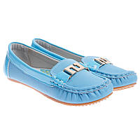 Туфли детские голубые С-9129-17