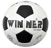 М'яч футбольний Winner Classiс № 5 з натуральної шкіри