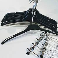 Вешалки пластиковые чёрные для лёгкой одежды 38-42 см