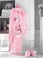 Soft cotton дитячий халат BUNNY 8 YAS PEMBE рожевий