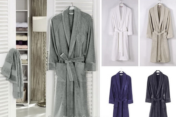 Soft cotton халат DELUXE L  фиолетовый