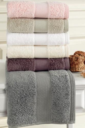 Soft cotton набор полотенец DELUXE 3 пр 32х50, 50х100, 75х150 a.bej.светло-бежевый