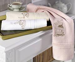 Soft cotton салфетки  MOCHA 3 пр 32х50 темно-розовый