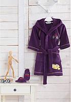 Soft cotton дитячий халат PILOT 8 Yas Mor фіолетовий