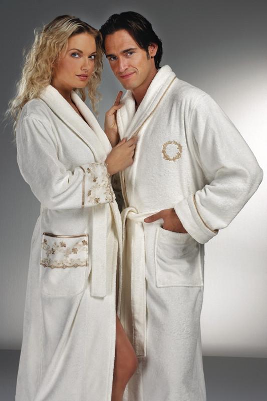 Soft cotton халат SEHZADE L молочный