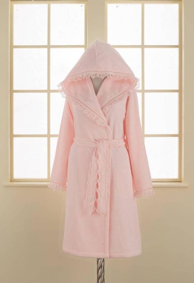 Soft cotton халат LUNA L Pembe розовый