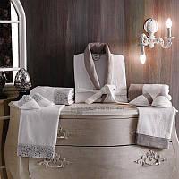 Tivolyo Home мужской халат FORZA (халат+2полотенца+тапочки) белый