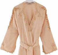 Soft cotton халат MASAL S Somon персиковый