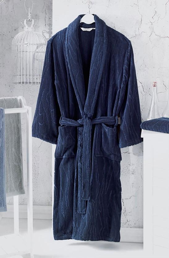 Soft cotton халат SORTIE M тёмно-синий