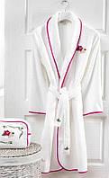 Soft cotton халат LILY M белый