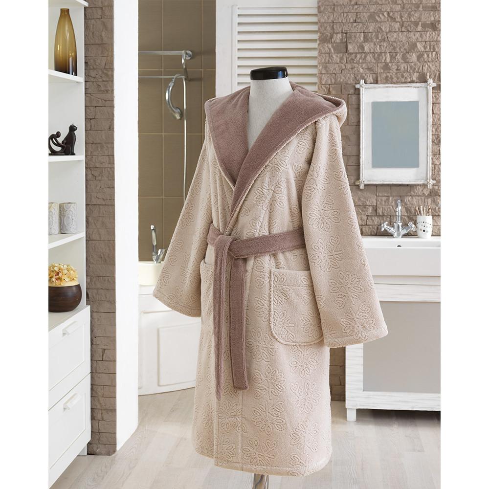 Soft cotton халат LEAF L бежевый