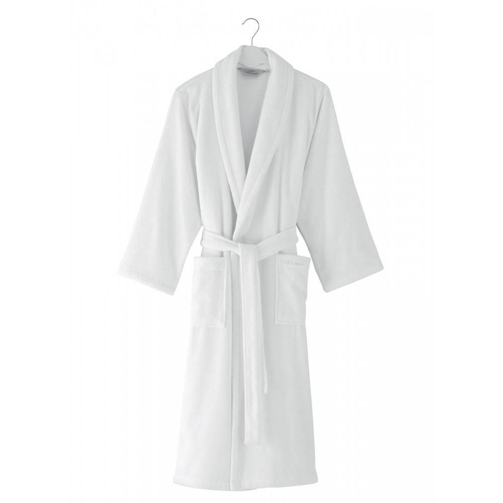 Soft cotton халат MICRO L Beyaz белый