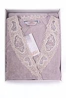 Soft cotton халат DESTAN S  лиловый