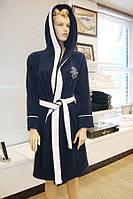 Soft cotton халат MARINE LADY M Lacivert тёмно-синий