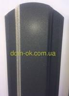 Штакет металлический RAL 9005 матовый двухсторонний (0.5мм ) форма 113 мм