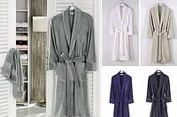 Soft cotton халат DELUXE L Gri серый