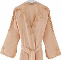 Soft cotton халат MASAL L Somon персиковый