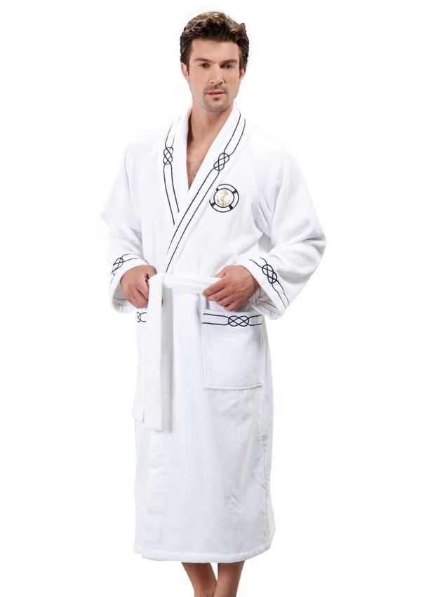 Soft cotton халат MARINE S Beyaz белый