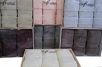 Soft cotton салфетки DELUXE 3 пр 32х50  серый