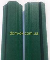 Штакет металлический   RAL 6005 матовый двухсторонний (0.5мм ) форма 113 мм