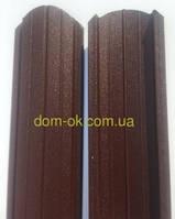Штакет металлический 108 мм, 113 мм RAL 8017 матовый двухсторонний (0.5мм ) форма 108 мм