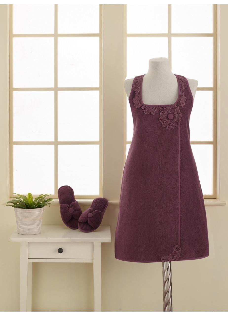 Soft cotton набор для сауны IRIS M фиолетовый