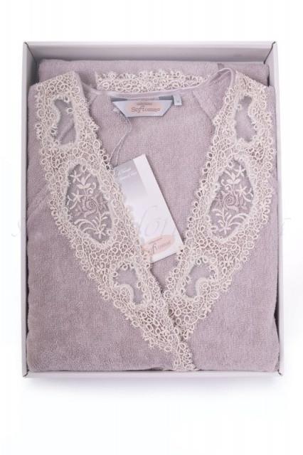 Soft cotton халат DESTAN M Lila ліловий