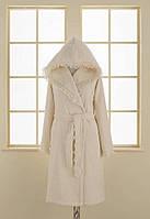 Soft cotton халат LUNA L Ekru молочный