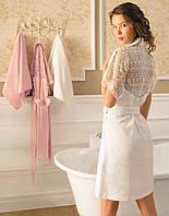 Tivolyo Home халат LINDA  + полотенцe 50X100  белый