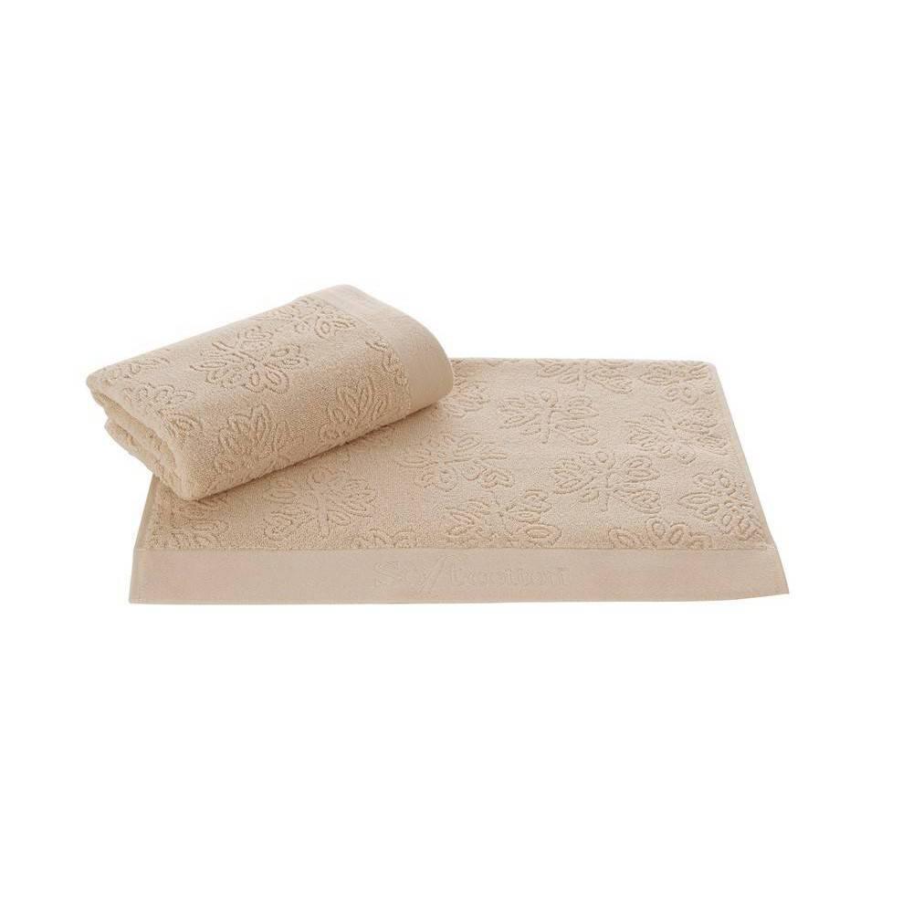 Soft cotton салфетки LEAF 3 пр 32х50 BEJ