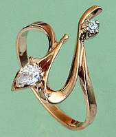 Золотий перстень з цирконом