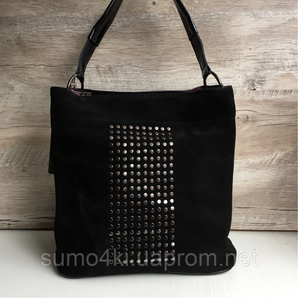 Натуральная замшевая сумка Polina - Интернет-магазин «Галерея Сумок» в  Одессе 573b16e580b